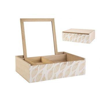 Cosy @ Home Jewellery Box Mirror Leafs White Nature