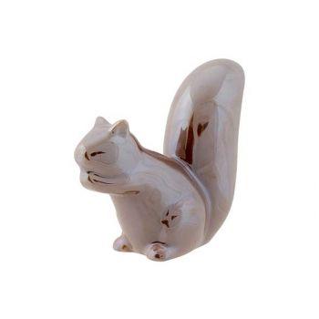 Cosy @ Home Squirrel Taupe 12x4,5xh10cm Ceramic