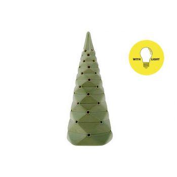 Cosy @ Home Xmas Tree Folded Green 9x9xh22cm Porcela