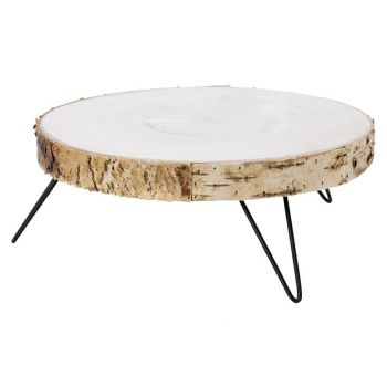 Cosy @ Home Tray Nature 27x27xh11,5cm Round Woo
