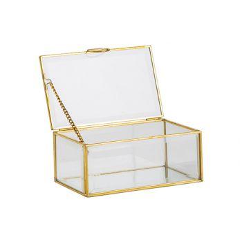 Cosy @ Home Box Gold 15x9xh6,5cm Glass