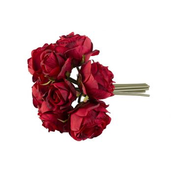 Cosy @ Home Bouquet Roses Red 30cm