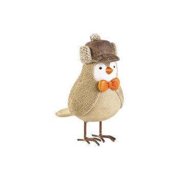 Cosy @ Home Bird Bow Beige 12x7xh12,5cm Resine