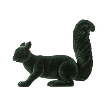 Cosy @ Home Squirrel Velvet Dark Green 19x6xh16cm Ce