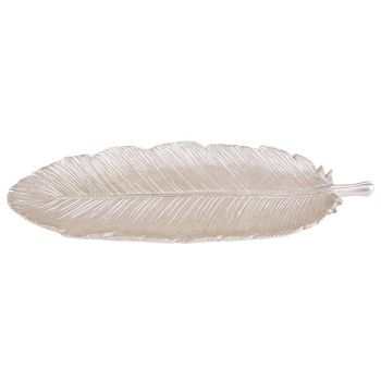 Cosy @ Home Bowl Feather Champaign 31x12xh1cm Polyre