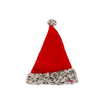 Cosy @ Home Xmas Hat Leopard Red D9 30x4xh45cm Texti