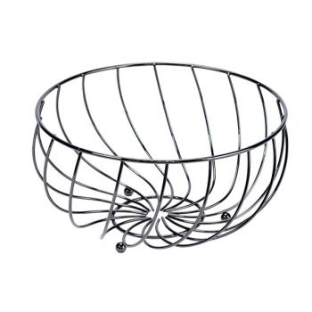 Cosy & Trendy Fruit Basket Black 28x28xh14cm Round