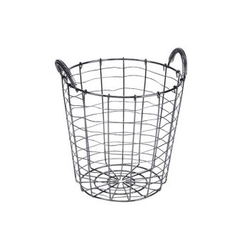Cosy & Trendy Storage Basket Black 21x21xh23,5cm Round