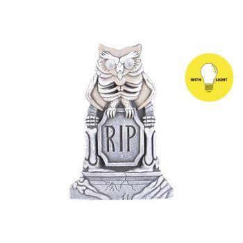 Cosy @ Home Tombstone Owl Led Eyes 38x3xh58cm Foam