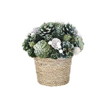 Cosy @ Home Xmas Arrangement Flower Pot  Glitter Pin