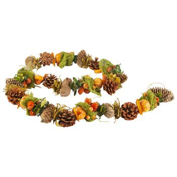 Cosy @ Home Garland Pumpkin With Pine Cone Orange 15