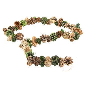 Cosy @ Home Pine Cone Garland Green 150cm