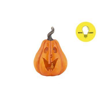 Cosy @ Home Pumpkin Head Face Orange 9,5x9xh13,5cm O