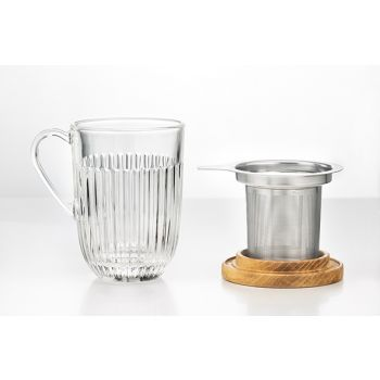 La Rochere Ouessant Tea Glass 40cl Filter And Lid