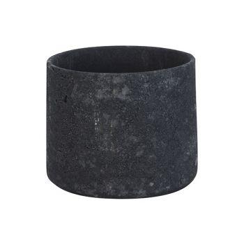 Cosy @ Home Flowerpot Rough Black 18x18xh16cm Cylind