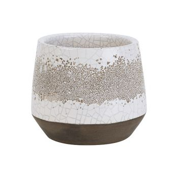Cosy @ Home Flowerpot Oxidized Cream 13x15xh13cm Rou