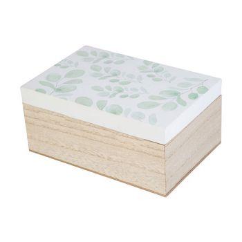 Cosy @ Home Box Eucalyptus White Nature 18x12xh8,5cm