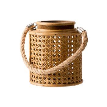 Cosy @ Home Lantern 1xglass Brown 14,7x14,7xh17cm Ro