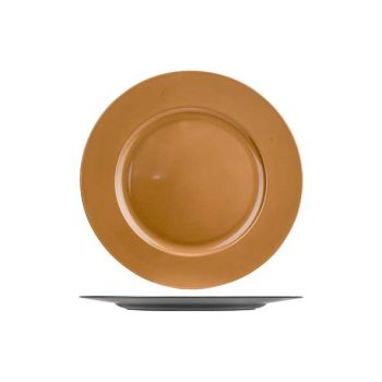 Cosy @ Home Plate Glossy Copper 33x33xh2cm Round Syn