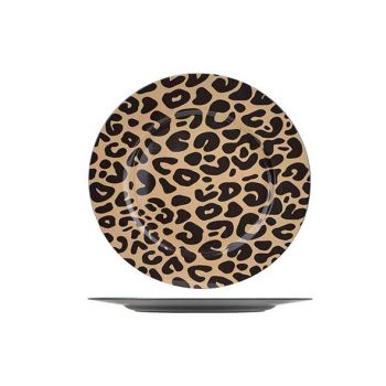 Cosy @ Home Plate Panther 33x33xh2cm Round Synthetic