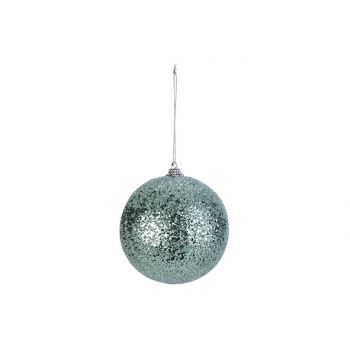 Cosy @ Home Xmas Ball Sparkle Mint D10cm Synthetic