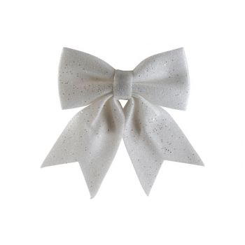 Cosy @ Home Bow Glitter White 25x30cm Synthetic