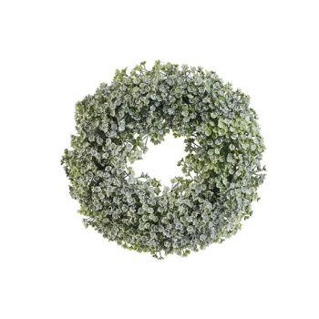 Cosy @ Home Wreath Honey Snow Green D30xh4,5cm Pe
