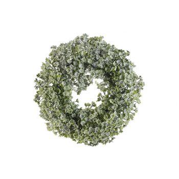 Cosy @ Home Wreath Honey Snow Green D20xh4,5cm Pe