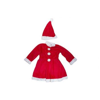 Cosy @ Home Santa Costume Girls 2pcs 6-8y Red Textil