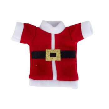 Cosy @ Home Cutlery Bag Santa Costume Red White 10x1