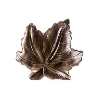 Cosy @ Home Leaf Brown 15,8x4,8xh14cm Ceramic
