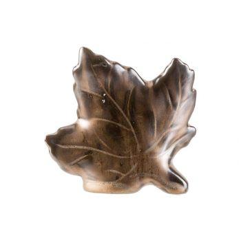 Cosy @ Home Leaf Brown 10x3xh9cm Ceramic
