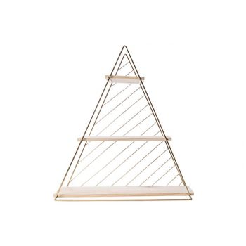Cosy @ Home Deco Rack Triangle Gold D60 47x13,5xh50c