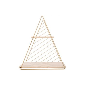 Cosy @ Home Deco Rack Triangle Gold 37,5x11xh42cm Me
