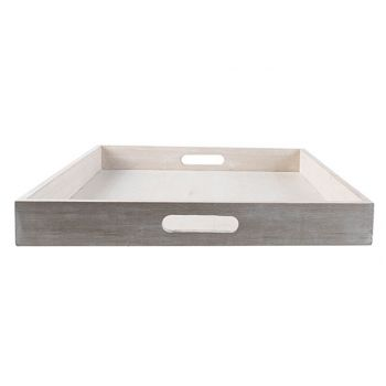 Cosy @ Home Tray Beige 40x40xh5cm Wood