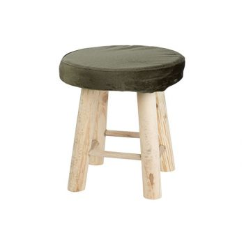 Cosy @ Home Stool Olive Green 24x24xh24cm Round Will