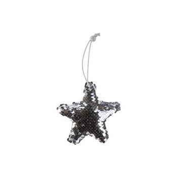 Cosy @ Home Hanger Star Paillet Silver 11x2xh11cm Te