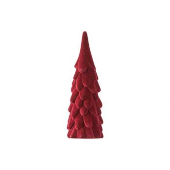 Cosy @ Home Xmas Tree Velvet Burgundy D8xh23cm Ceram