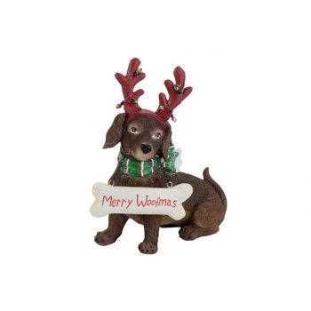 Cosy @ Home Dog Antlers Red Brown 18,8x8,6xh20,7cm R