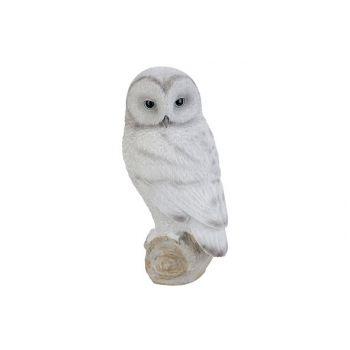 Cosy @ Home Owl White 15x16xh28,5cm Resine