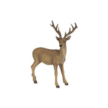 Cosy @ Home Deer Brown 34,5x12xh39,5cm Resine