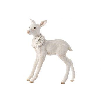 Cosy @ Home Deer White 20,6x8,1xh24,5cm Resine
