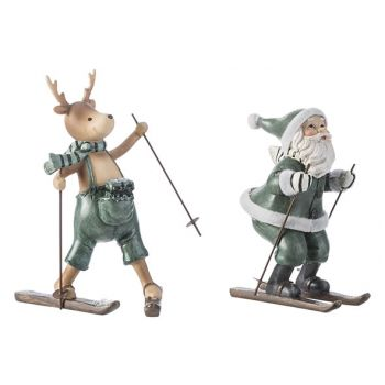 Cosy @ Home Weihnachtsmann Skiing 2 Types Grey-green 9,