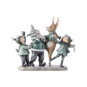 Cosy @ Home Weihnachtsmann Tafereel Grey-green 24,8x