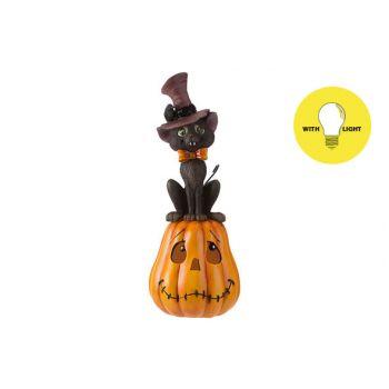 Cosy @ Home Pumpkin Cat With Hat Orange 14x14xh35,6c