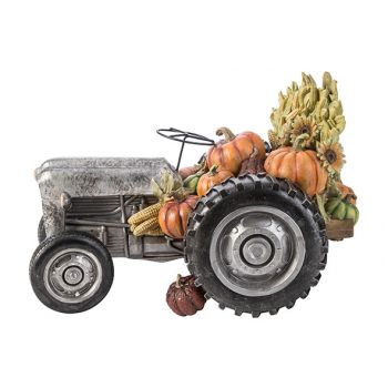 Cosy @ Home Figure Tractor Grey 37,5x22,7xh24,3cm Re