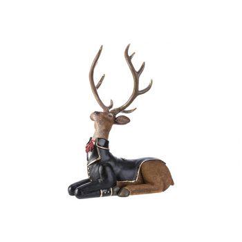 Cosy @ Home Deer Lying Brown 30,4x20xh33cm Resin