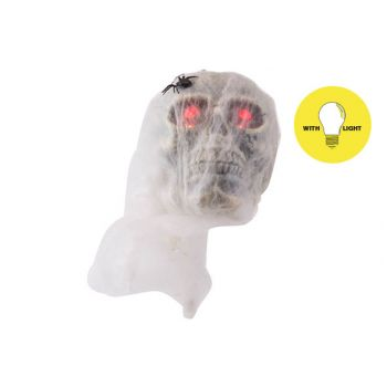 Cosy @ Home Skull Spiderweb With Light 15x14xh50cm F
