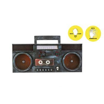 Cosy @ Home Radio Animation Black 40x7xh16cm Eva