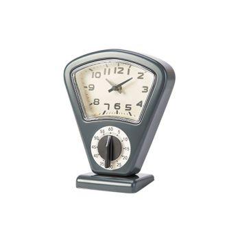 Cosy & Trendy Timer + Clock Grey 17,5x10xh21cm